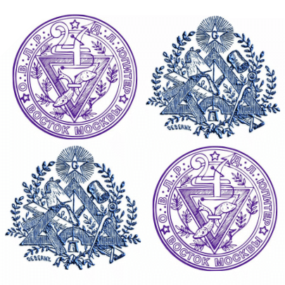 эмблемы Ложи Юпитер и Ложи Северного Сияния ОВЛР